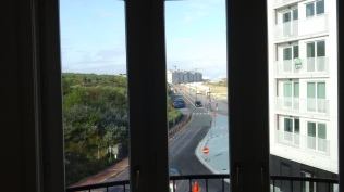 View from the living room to the dike
