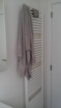 Towel dryer in the bathroom